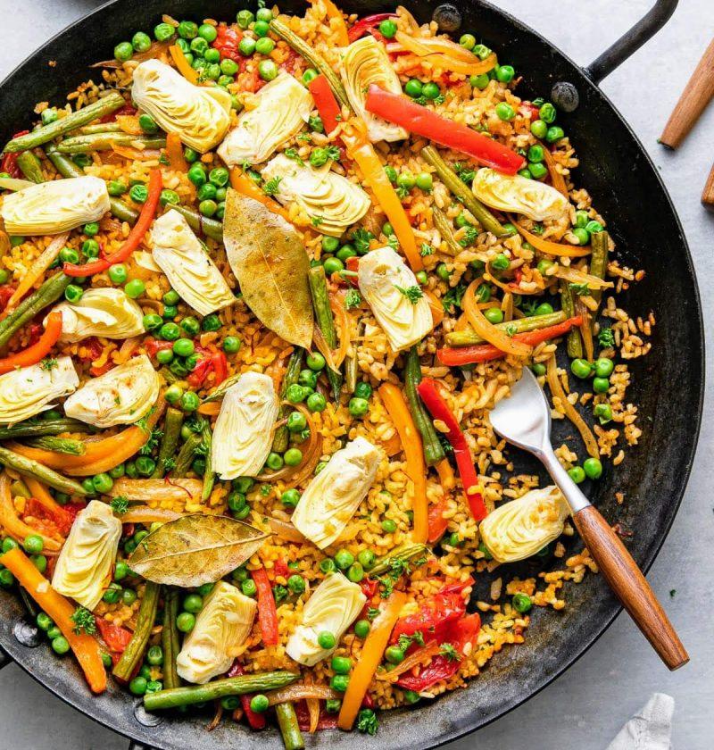 Cazuela de Paella vegana