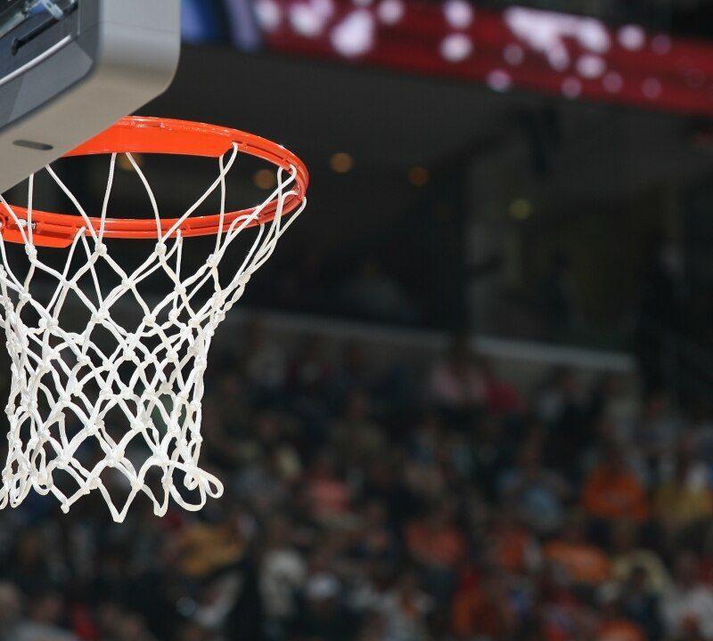 Tablero de basquetbol casero